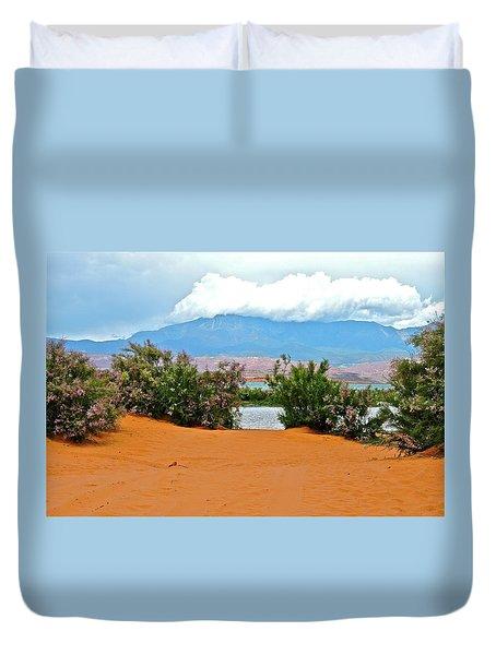 Sand Hallow Reservoir Duvet Cover