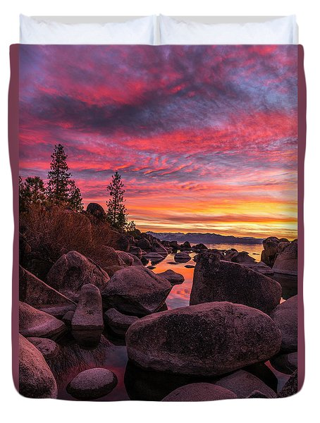 Sand Harbor Beach Duvet Cover