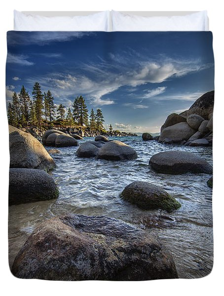 Sand Harbor II Duvet Cover