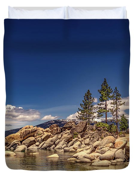 Sand Harbor In The Afternoon Duvet Cover