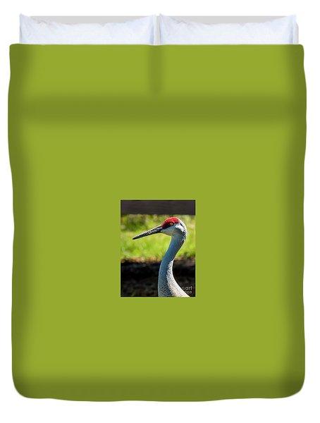 Sand Hill Crane Duvet Cover