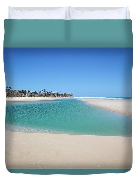 Sand Island Paradise Duvet Cover