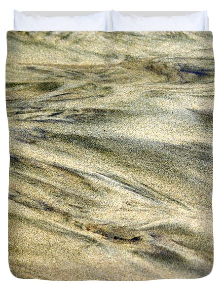 Sand Pattern Duvet Cover by Marty Koch