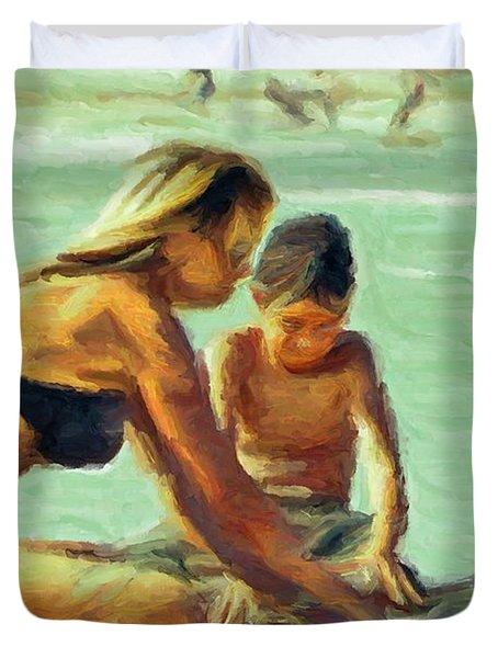Sand Play Duvet Cover