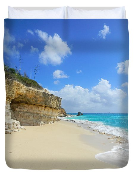 Sand Sea And Sky Duvet Cover