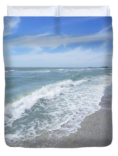 Sand, Sea, Sun, No.2 Duvet Cover