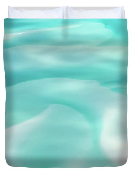 Duvet Cover featuring the photograph Sand Swirls by Az Jackson