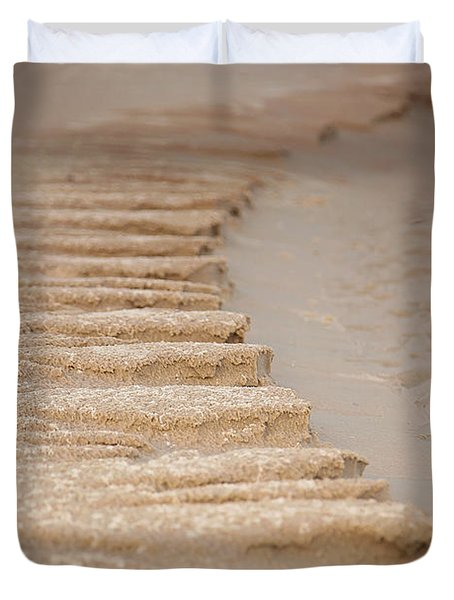 Duvet Cover featuring the photograph Sand Texture by Sally Simon