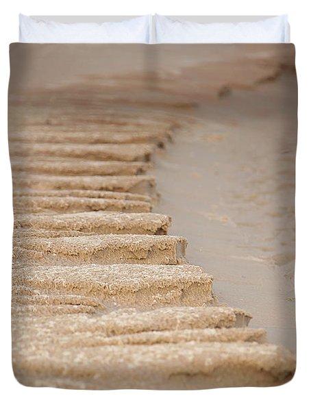 Sand Texture Duvet Cover by Sally Simon