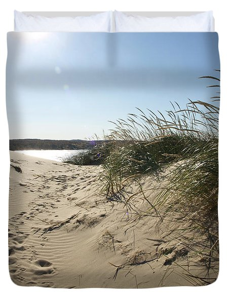 Sand Tracks Duvet Cover
