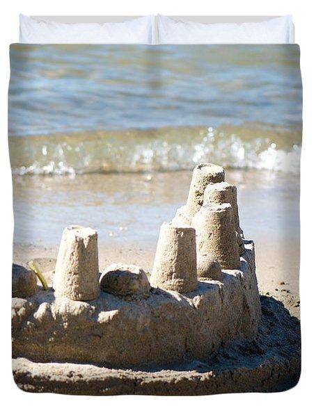 Sandcastle  Duvet Cover by Lisa Knechtel