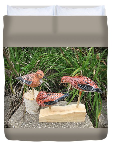 Sanderling Trio Duvet Cover