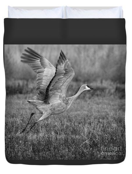Sandhill Wing Spread Duvet Cover by Ruth Jolly