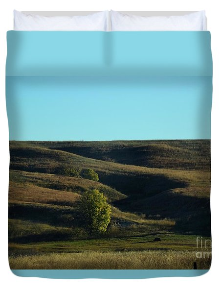 Duvet Cover featuring the photograph Sandhills Hills by Mark McReynolds