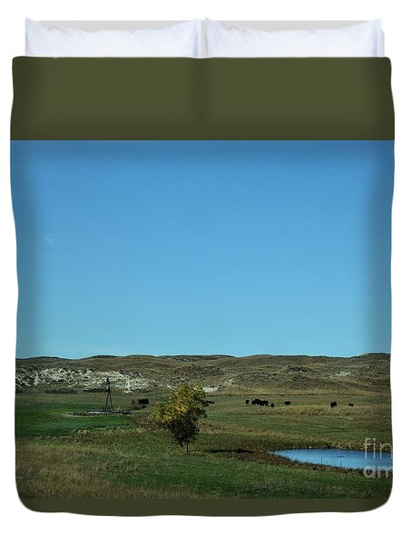 Duvet Cover featuring the photograph Sandhills Ranch by Mark McReynolds