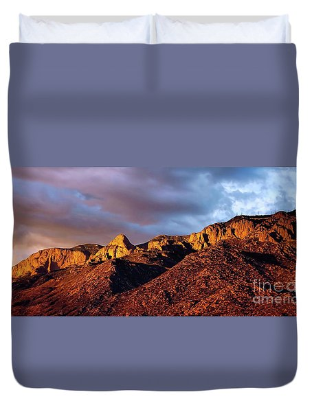Duvet Cover featuring the photograph Sandia Beauty by Gina Savage