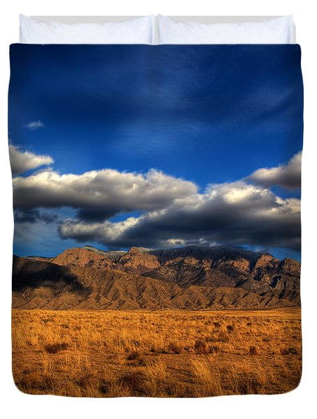 Sandia Crest In Late Afternoon Light Duvet Cover by Alan Vance Ley