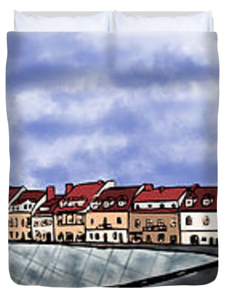 Sandomierz City Duvet Cover