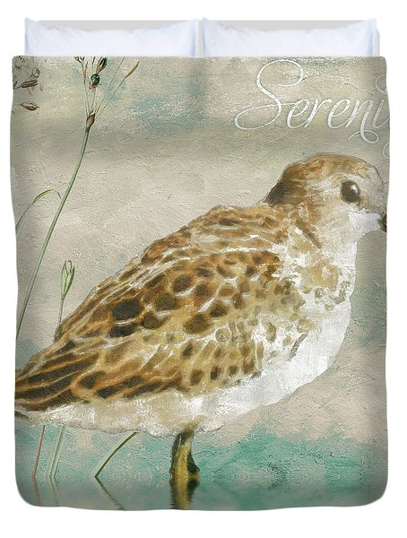 Sandpiper I Duvet Cover by Mindy Sommers