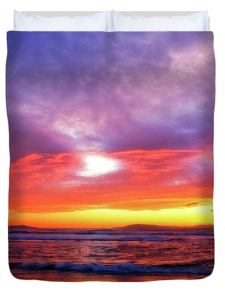 Sandpiper Sunset Ventura California Duvet Cover