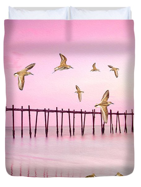 Sandpiper Sunset Duvet Cover