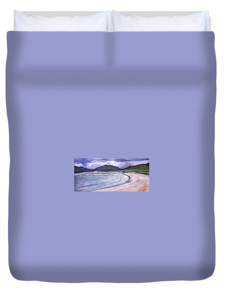 Duvet Cover featuring the painting Sands, Harris by Richard James Digance