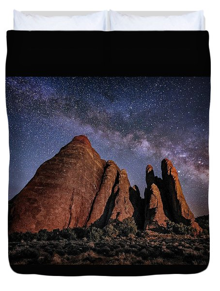 Sandstone And Milky Way Duvet Cover