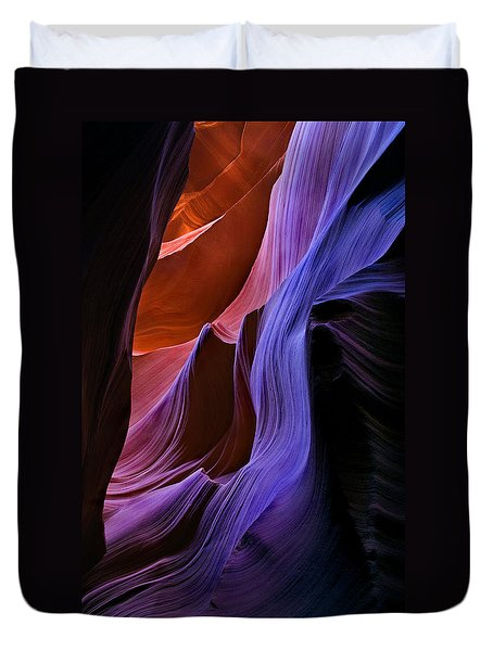 Sandstone Cascade Duvet Cover by Mike  Dawson