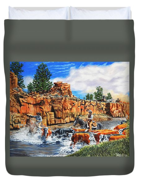 Sandstone Crossing Duvet Cover