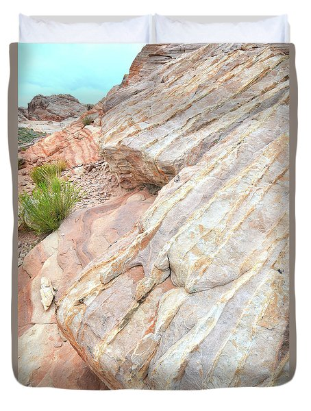 Duvet Cover featuring the photograph Sandstone Feet In Valley Of Fire by Ray Mathis