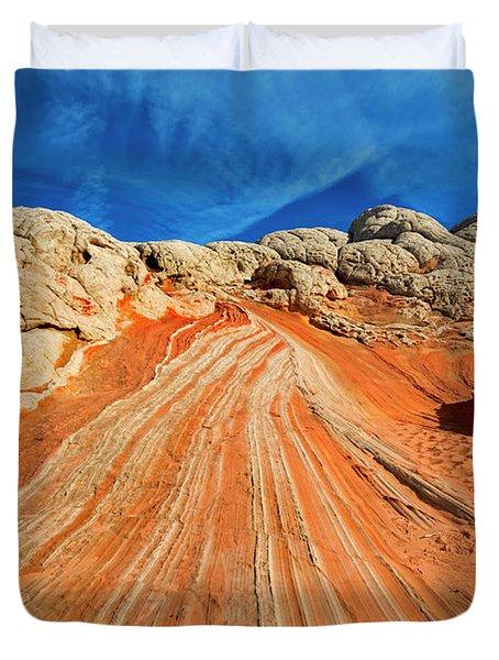 Sandstone Racetrack Duvet Cover