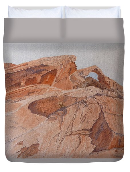 Sandstone Rainbow Duvet Cover by Joel Deutsch