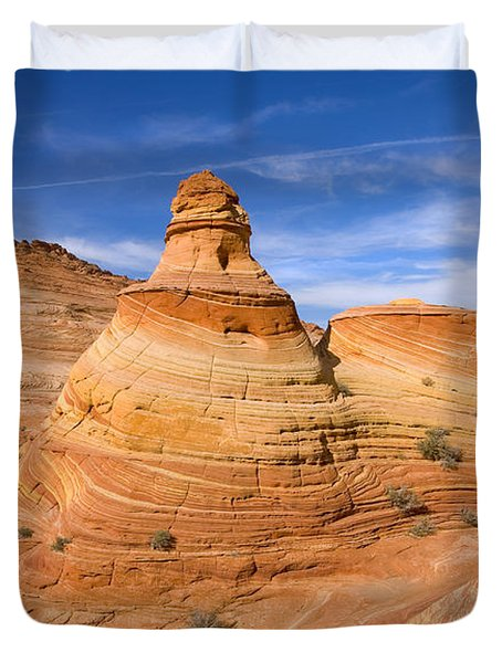 Sandstone Tent Rock Duvet Cover by Mike  Dawson