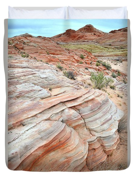 Duvet Cover featuring the photograph Sandstone Wash In Valley Of Fire by Ray Mathis
