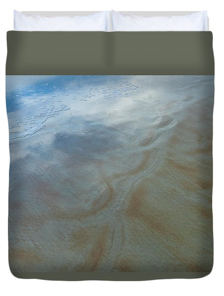 Sandy Beach Abstract Duvet Cover by Carolyn Marshall