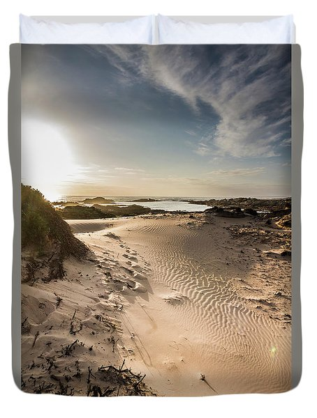 Sandy Beach Haven Duvet Cover