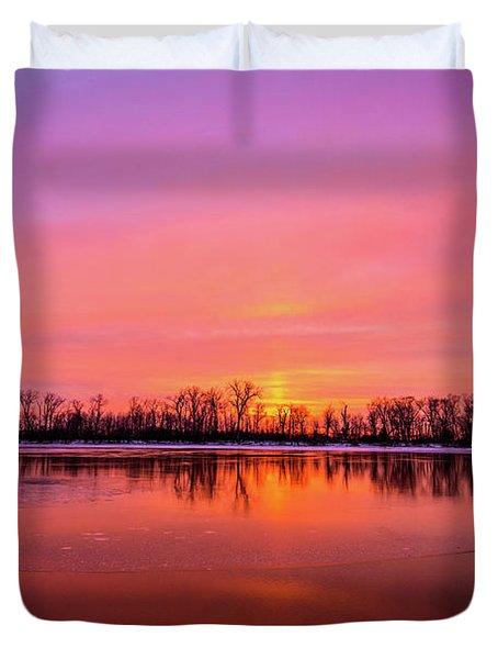 Sandy Chute Sunset Duvet Cover