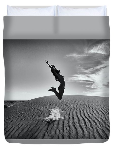 Sandy Dune Nude - The Jump Duvet Cover