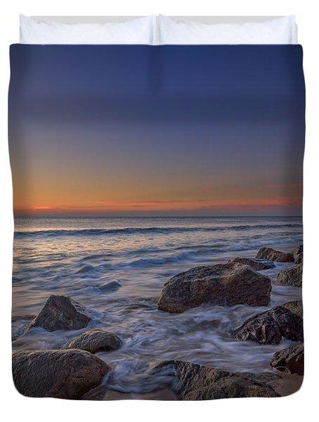Sandy Hook At Sunrise Duvet Cover