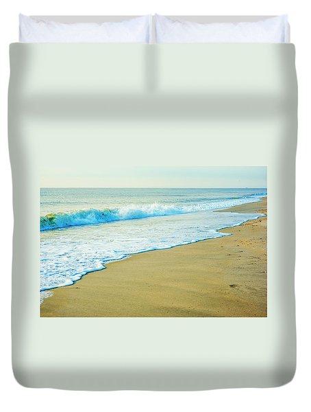 Sandy Hook Beach, New Jersey, Usa Duvet Cover