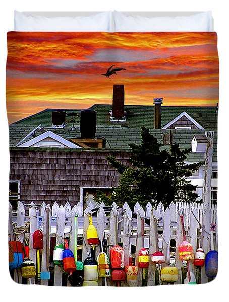 Sandy Neck Sunset Duvet Cover