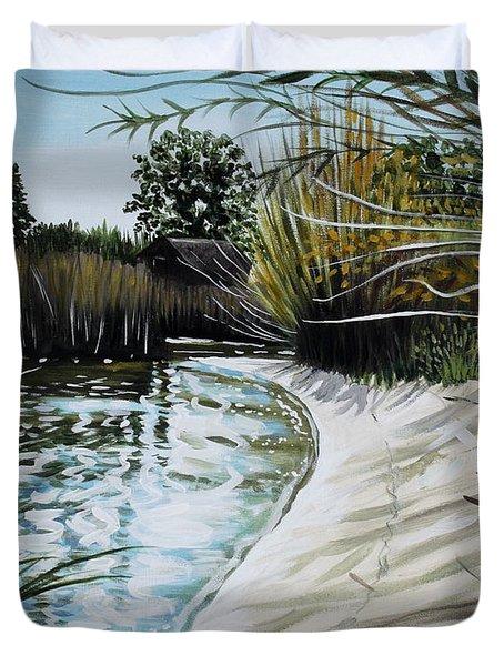Sandy Reeds Duvet Cover