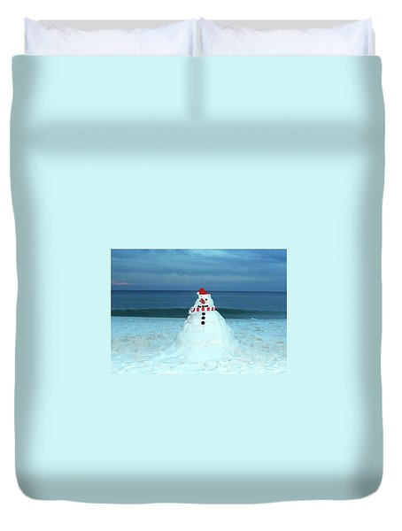 Sandy The Snowman Duvet Cover