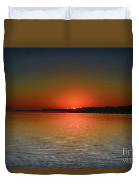 Duvet Cover featuring the photograph Sanford Morning Sunrise by Deborah Benoit