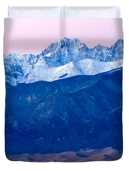 Sangre De Christo And The Great Sand Dunes National Park Duvet Cover