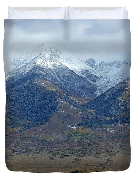 Sangre De Cristo First Snow Duvet Cover