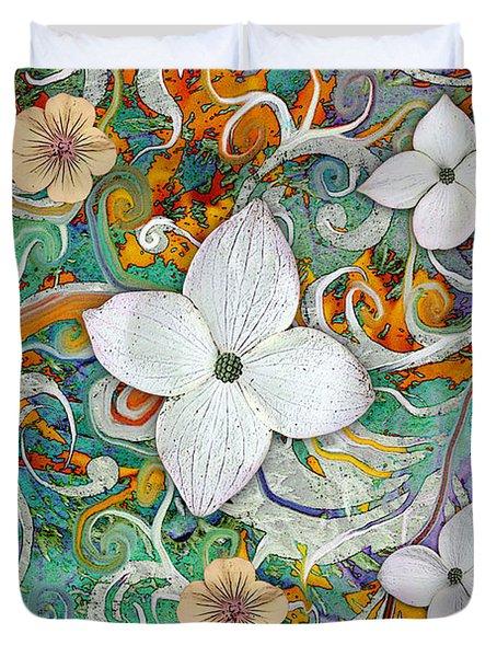 Sangria Flora Duvet Cover
