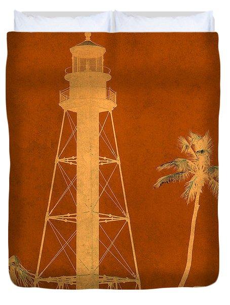 Sanibel Island Lighthouse Duvet Cover by Trish Tritz