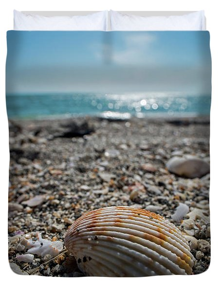 Sanibel Island Sea Shell Fort Myers Florida Duvet Cover
