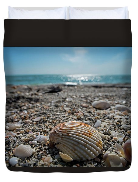 Sanibel Island Sea Shell Fort Myers Florida Duvet Cover